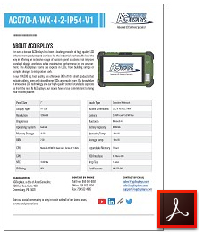 AG070-A-WX-4-2-IP54-V1 Rugged tablet lcd