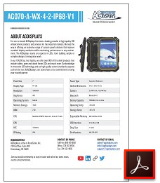 AG070-A-WX-4-2-IP68-V1 rugged tablet lcd