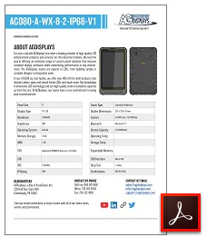 AG080-A-WX-8-2-IP68-V1 rugged tablet datasheet
