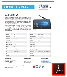 AG089-U-F-4-4-IPNA-V1 rugged lcd tablet datasheets
