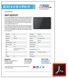 AG101-A-H-10-4-IP54-V1 rugged tablet lcd