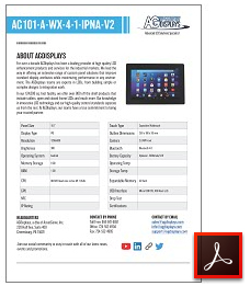 rugged tablet lcd datasheets