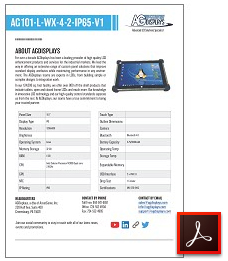 AG101-L-WX-4-2-IP65-V1 rugged tablet lcd
