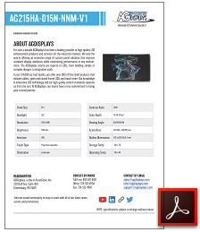 AG215HA-015N-NNM-V1 full solutions lcd display