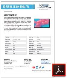 AG215HA-B10N-NNM-V1 high bright LCD display solutions