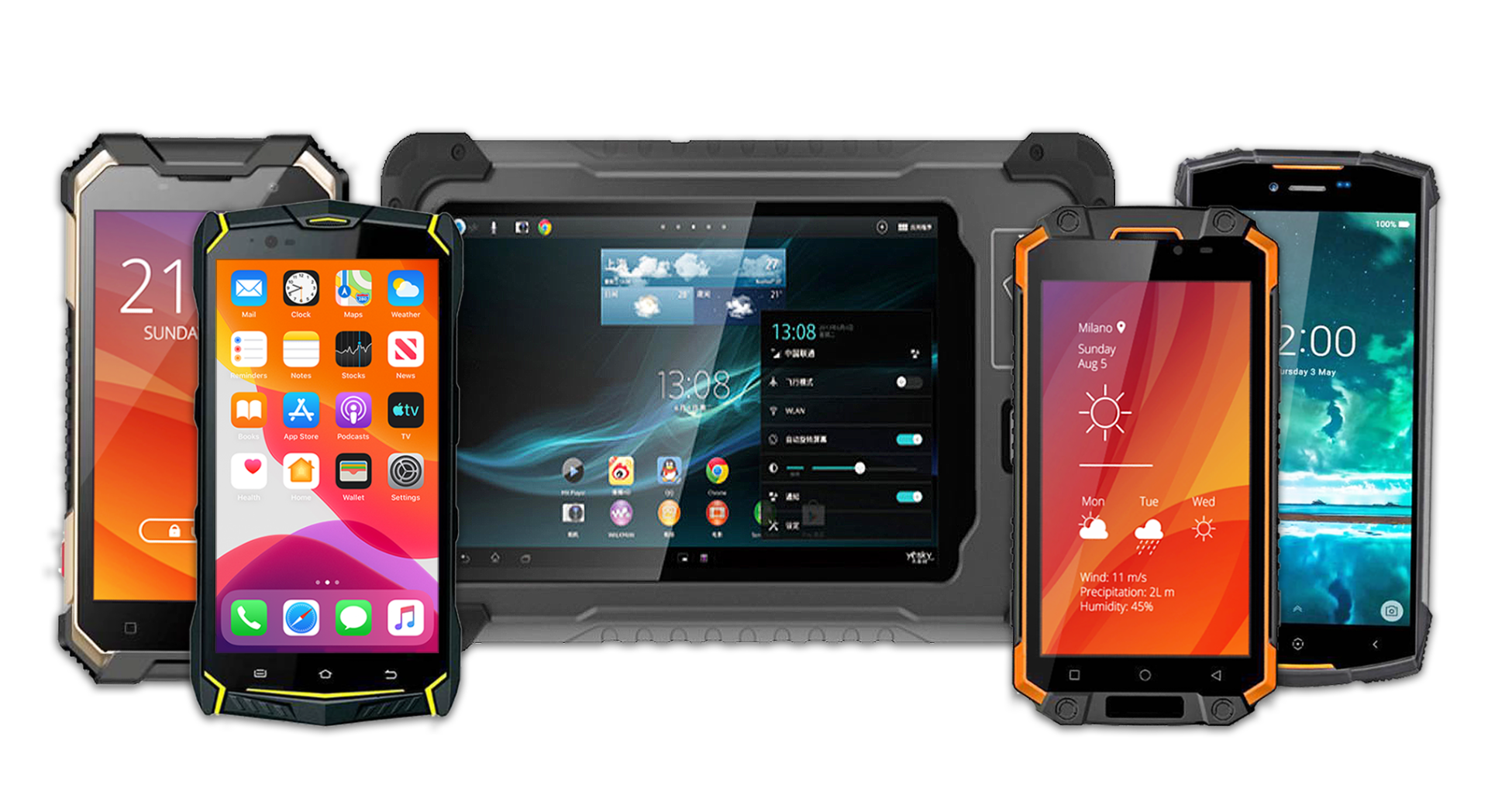rugged phones and tablets